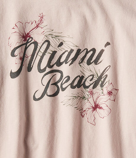 Long Sleeve Miami Beach Graphic Tee***