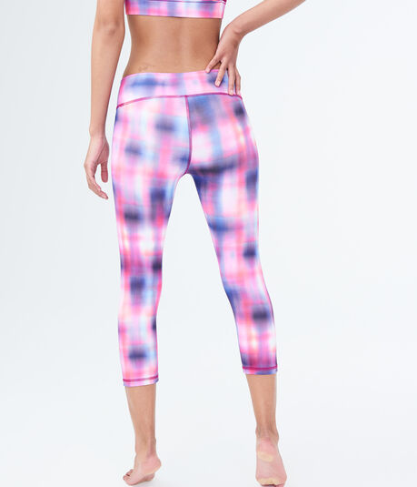 LLD Fade-Out Plaid Crop Leggings