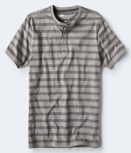Striped Stretch Henley