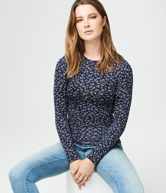 Long Sleeve Ditsy Floral Layering Tee