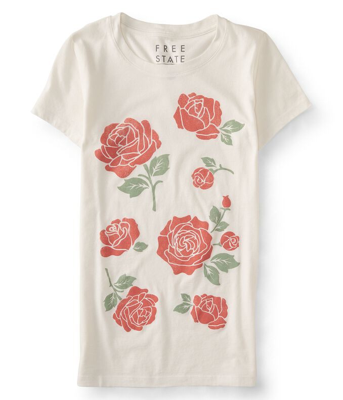 Free State Rose Stencil Graphic T
