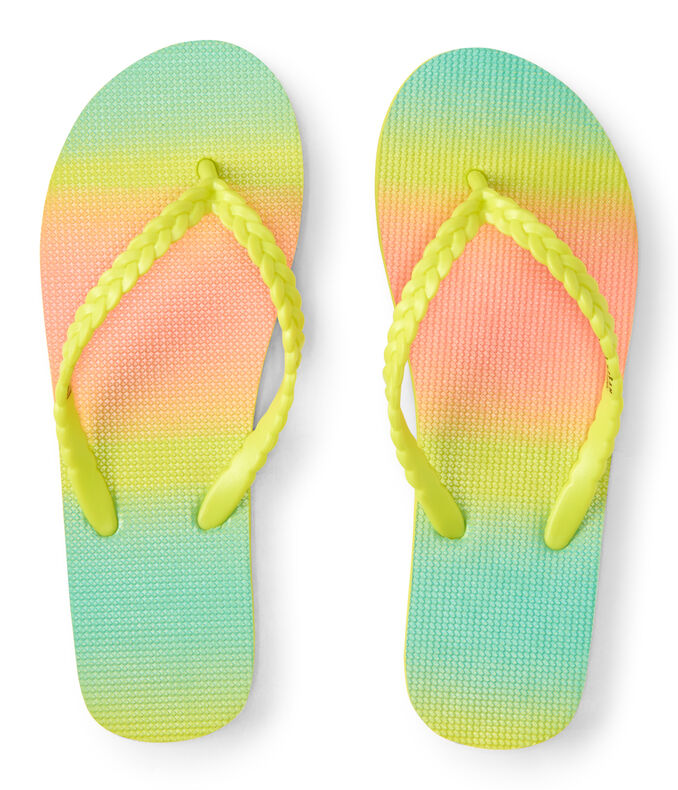 LLD Rainbow Braided Flip-Flop
