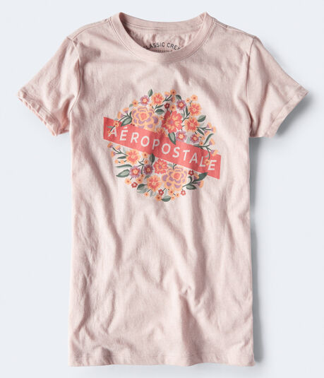 Aeropostale Floral Circle Graphic Tee