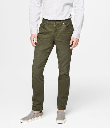Skinny Color Wash Reflex Twill Pants