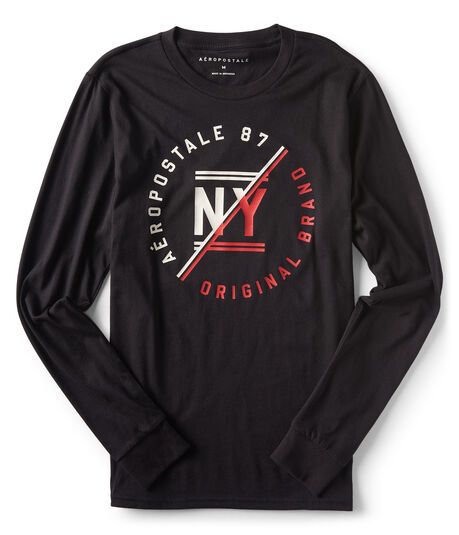 Final Sale- Long Sleeve NY Original Brand Graphic Tee