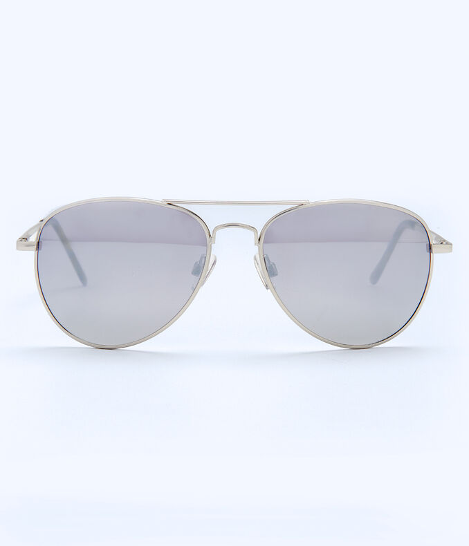 Polarized Polished Aviator Sunglasses
