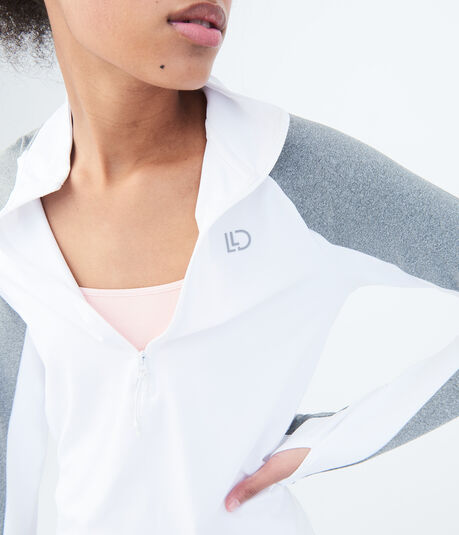 LLD Long Sleeve Colorblocked Half-Zip Top