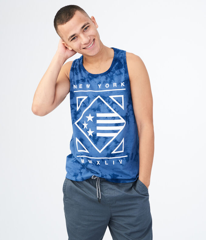 Diamond Flag Tie-Dye Tank Top