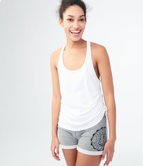 LLD Solid Ruched Racerback Tank