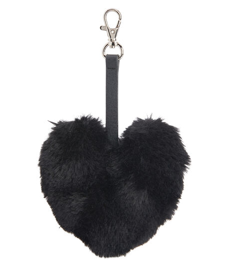 Fuzzy Heart Bag Charm