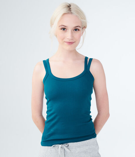 Solid Ribbed Double-Strap Tank