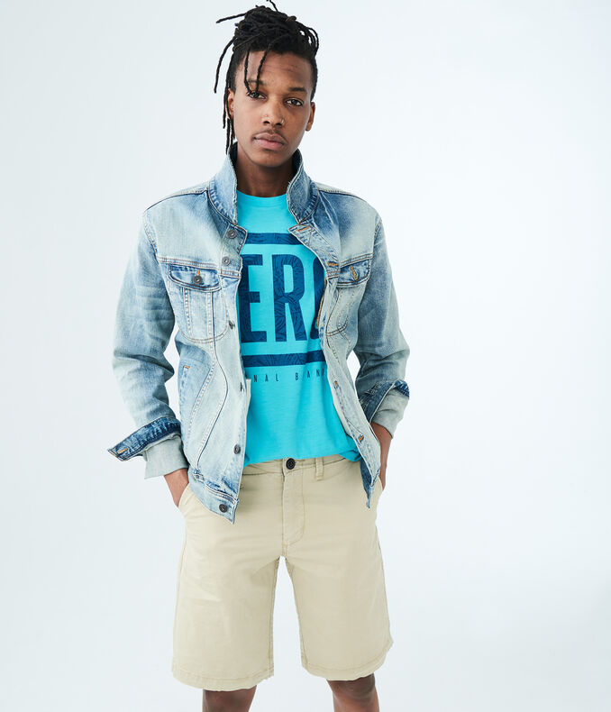 Stretch Chino Shorts for Men | Aeropostale | Tuggl