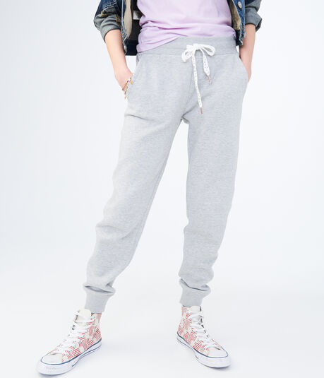 Embellished Drawstring Jogger Sweatpants