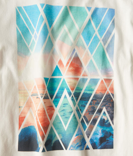 Geometric Ocean Graphic Tee***