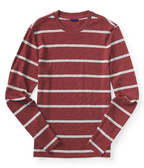 Long Sleeve Striped Thermal Tee