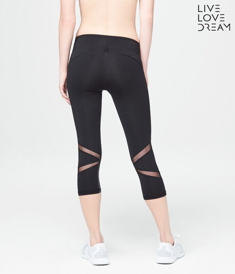 LLD Best Booty Ever Mesh Inset Crop Leggings