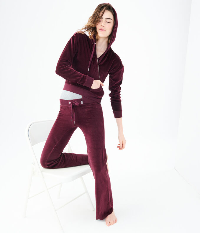 Velour Fit & Flare Sweatpants