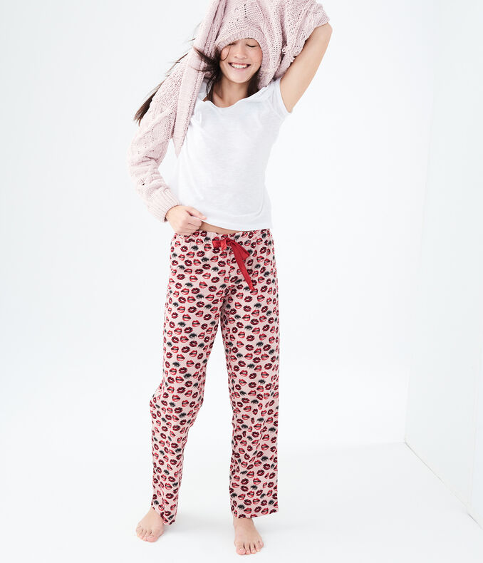 LLD Lips And Eyes Flannel Sleep Pants