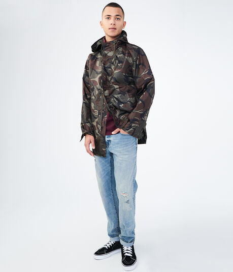 Lightweight Hooded Camo Parka
