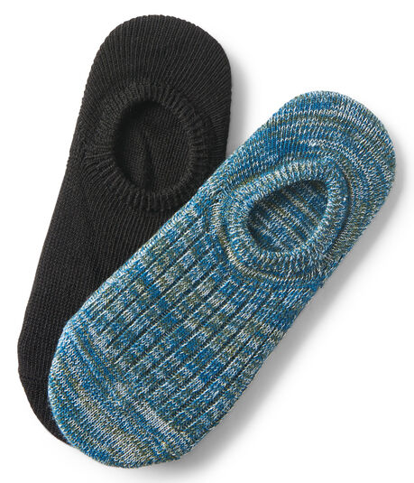 2-Pack Solid & Marled No-Show Socks