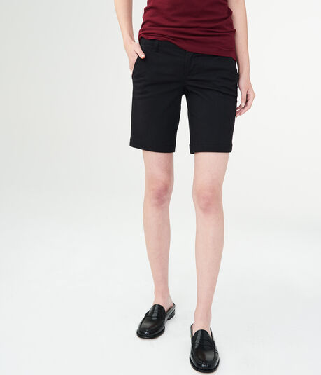 Solid Uniform Bermuda Shorts***