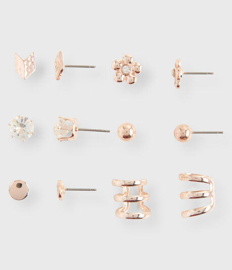 Daisy Stud & Cuff Earring 6-Pack