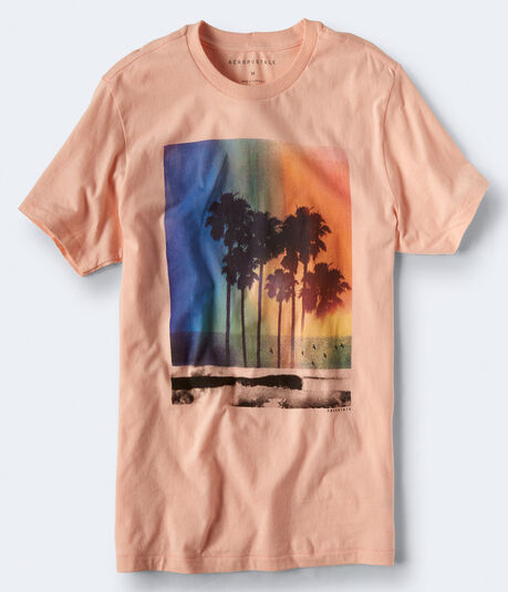 Palm Tree Rainbow Graphic Tee