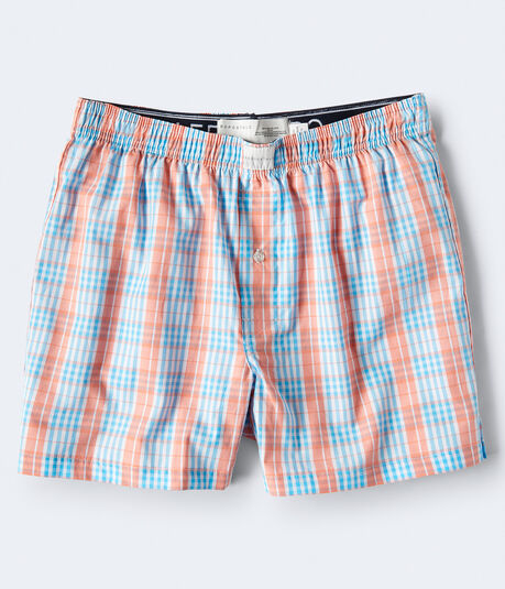 Small Plaid Woven Boxers