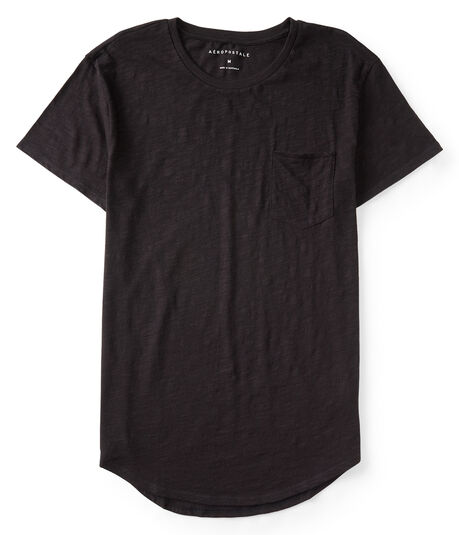 Solid Long Line Pocket Tee