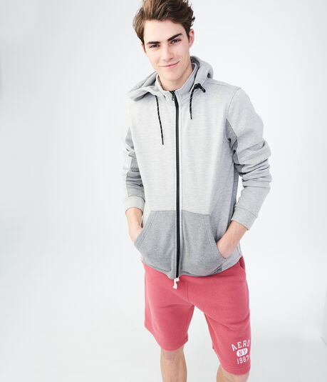 Colorblocked Active Full-Zip Hoodie