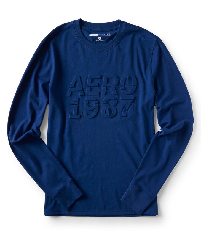 Long Sleeve Embossed Aero 1987 Stretch Graphic Tee