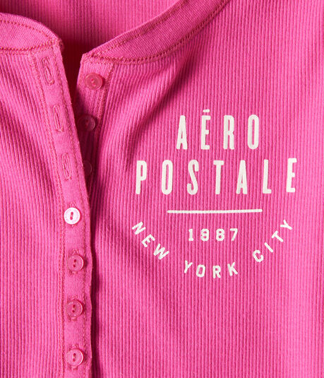 Aeropostale New York City Graphic Henley