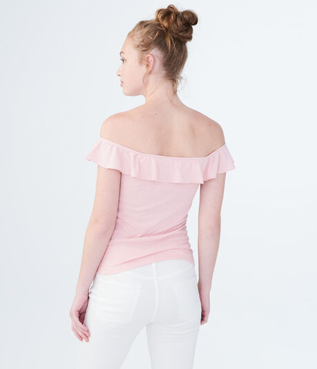 Solid V-Wire Off-The-Shoulder Bodycon Top