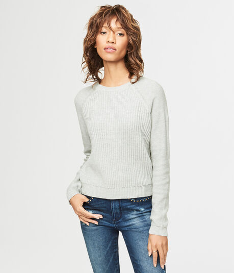 Mixed Stitch Raglan Sweater