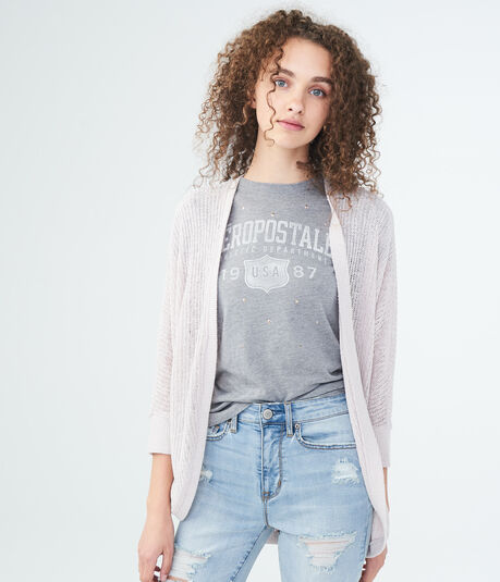 Solid Knit Dolman Cardigan