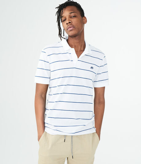 A87 Thin Stripe Jersey Polo