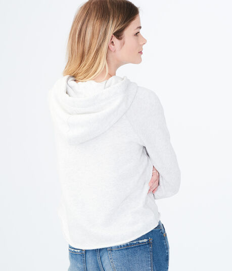 Lace Bell Sleeve Pullover Hoodie
