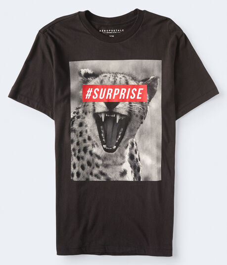 #Surprise Cheetah Graphic Tee