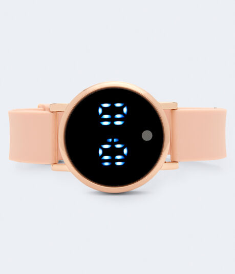 Rubber Round LED Digital Watch