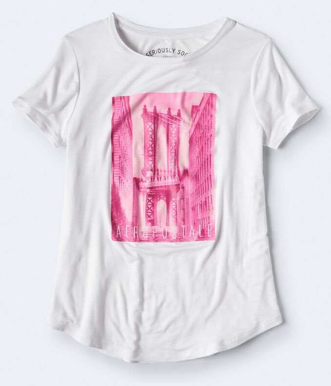 Seriously Soft Aeropostale Bridge Relaxed Graphic Tee