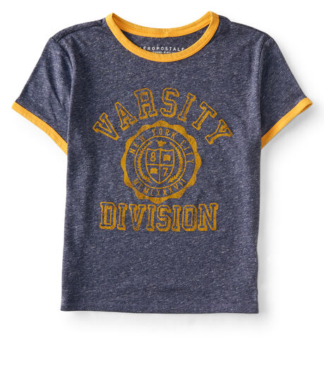 Varsity Division Ringer Crop Baby Tee