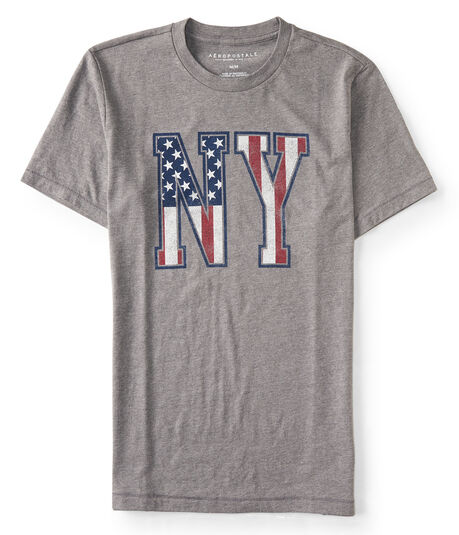 NY American Flag Graphic T