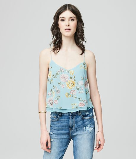 Cape Juby Bloom Print Layered Tank