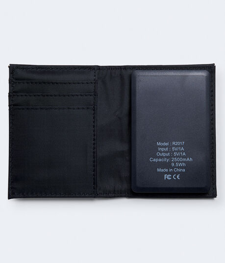 Faux Leather Charging Wallet