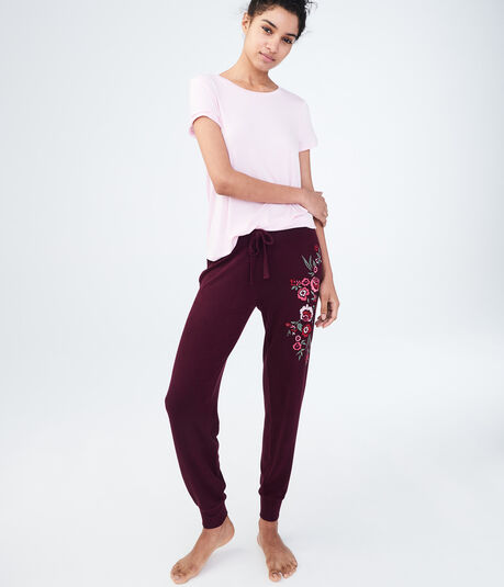 LLD Seriously Soft Embroidered Jogger Sweatpants