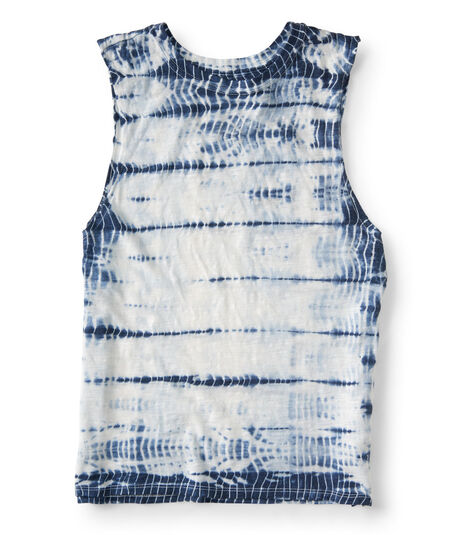 Navy Blue Tie-Dye Tank Top