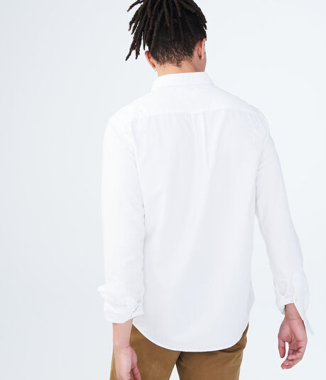 Long Sleeve Solid Oxford Shirt