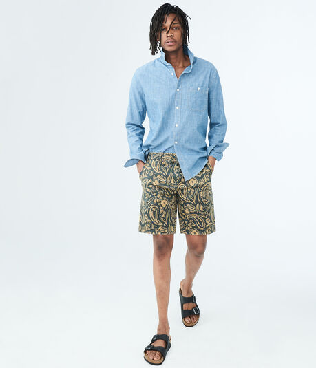 Safari Stretch Flat-Front Chino Shorts