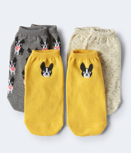3-Pack Terrier & Heathered Ankle Socks
