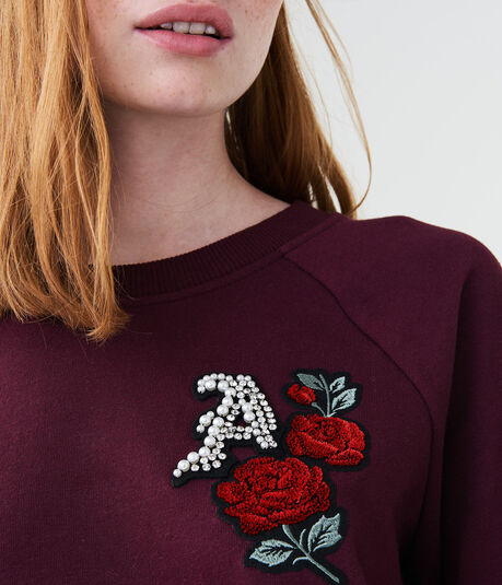 "Rose ""A"" Crew Sweatshirt"
